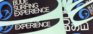 Bude Surf Experience Shaped stickers